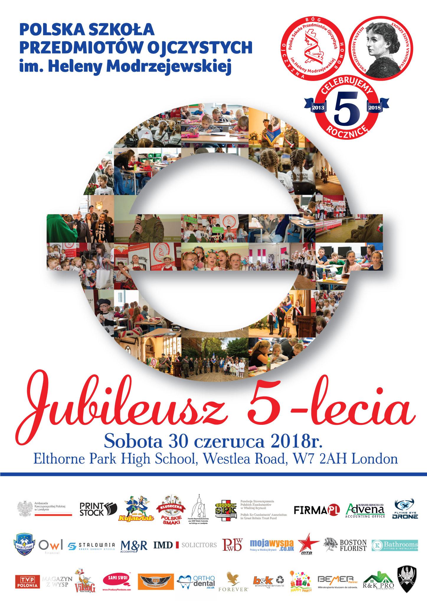 Jubileusz Plakat Jubileusz 5 lecia Szkoły